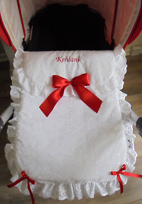 Personalised hand crafted baby pram cover sets - Made to order