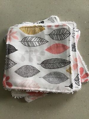 Eight Eco Facial Wipes Baby Wipes Cotton & Bamboo Washable Zero Waste  Reusable