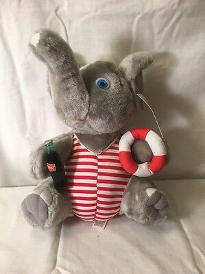 CocaCola Elephant -the Plush Collection/Holding Life Ring-1993/Amazing Condition