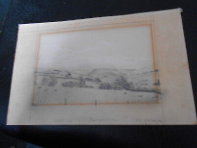 in the circle of l s lowry pencil sketch of mountain scene