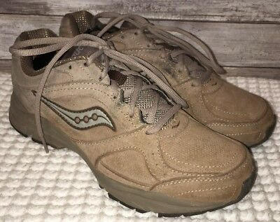 e7ea108d SAUCONY WOMEN'S GRID Integrity ST2 Tan Leather Walking Shoes Sz 9.5 XT-900  Sole