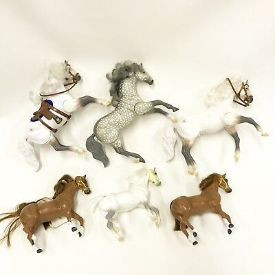 Lot of 6 Vintage Grand Champions Horse Figures Some Sound N Action