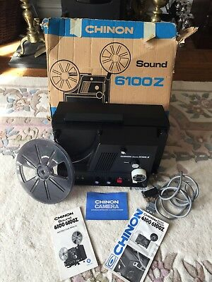 Chinon 6100Z Sound 8mm Film Projector Great Condition