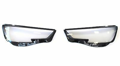 Headlight Lens Audi A4 B9 (2016 +) Headlamps Lamp Replacement Covers Pair Lens