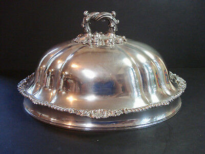 Very Nice Antique Silver Plated Meat Dome