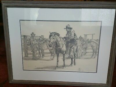 "Finest Frederick Hambley Sketch, ""mount Up ""!!!! Beautiful Piece!!!!"