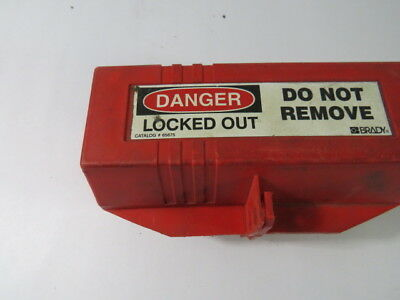"Brady 65675 Red Plug Lock-Out Cover 3 1/4x7x1/2x3 1/4""  USED"