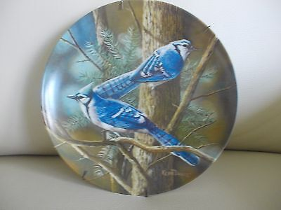1985 Knowles Plate 'THE BLUE JAY' By Kevin Daniel, Mint W/COA, W//Plate Hanger!