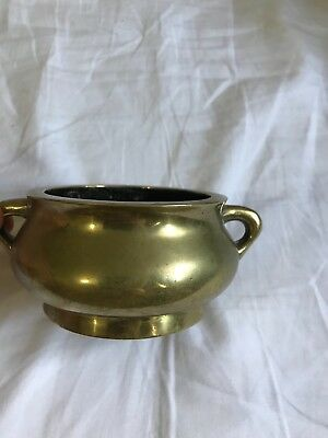 An 18th c Chinese Bronze incense burner censer , signed Xuande
