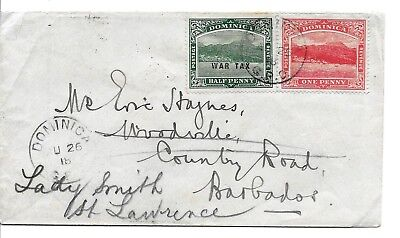 Lot a01  DOMINICA  >  nice old Cover , good franking  !!!