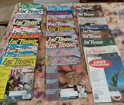 Lot of 31 diff Lost Treasure Magazine back issues early 1980's to mid 1990's