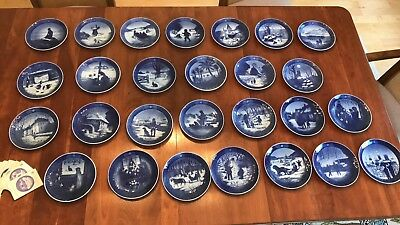 Royal Copenhagen Christmas Plates Large Lot Set 1962 - 1988 Complete-Excellent!