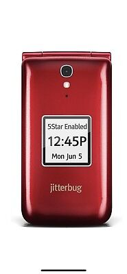 Brand New Jitterbug Flip Easy-to-Use Cell Phone for Seniors by GreatCall - Red
