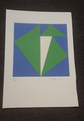MAX BILL Superb  Lithograph   Hand Signed with Pencil