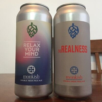 Monkish Relax Your Mind & The Realness [2 cans total] Other Half Tired Hands