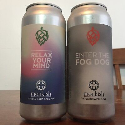 Monkish Relax Your Mind & Enter the Fog Dog [2 cans] Other Half Tired Hands