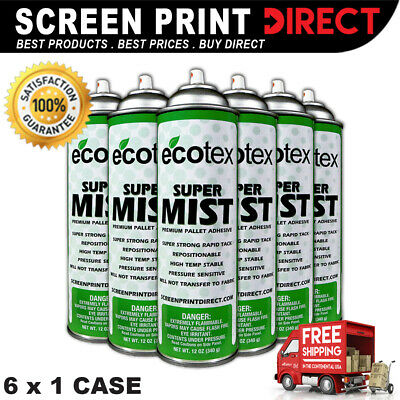 Ecotex SUPER MIST - Premium Pallet Adhesive for Screen Printing - 12oz