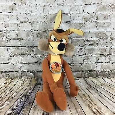 "Warner Bros Looney Tunes Wile E Coyete Vintage 1971 Mighty Star 21"" Plush Doll"