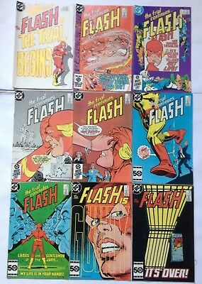 9 FLASH  # 340 341 342 344 345 346 347 348 349 DC COMICS the TRIAL OF