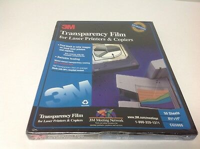 3M Transparency Film CG5000 for Laser Printers & Copier 50 Sheets Sealed