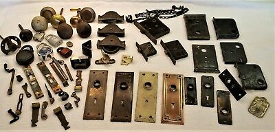 VINTAGE LOT Antique Door Hardware, Plates, Locks, Knobs, Pullies, Latches, More!