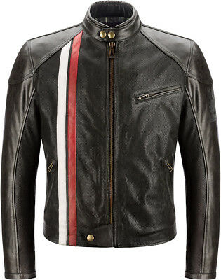 """Belstaff Seeley Mens Leather Motorcycle Jacket in Black size L / 40"""" Chest"""