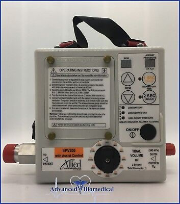 Allied Healthcare EPV200 Portable Ventilator with Assist Control Emergency