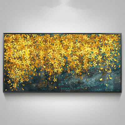 YA938# Large Modern Wall Decor art Hand-painted Abstract oil painting Flowers
