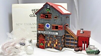 """Department 56 """"Blue Star Ice Co."""" New England Village Series #56472 New in Box"""