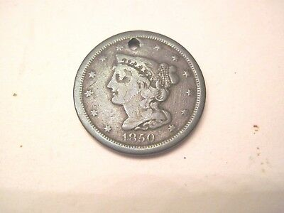 1850 Half Cent, Hard To Find, Clear Date -