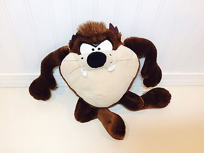 "Loony Tunes TAZ Tasmanian Devil Talking Sound Box 16"" Plush Stuffed Toy Applause"