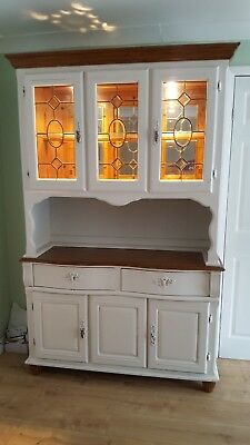 French Dresser - Shabby Chic / Distressed Style - Ivory / Off White