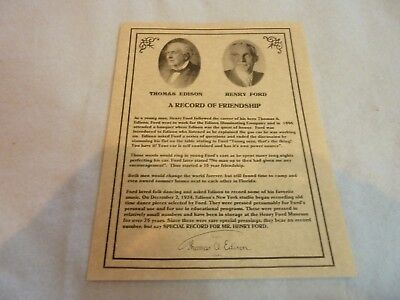 Two Edison Diamond Disc Records Pressed Exclusively for Mr. Henry Ford - 1924