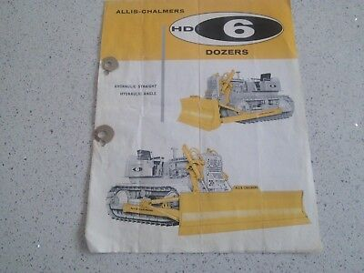 Allis Chalmers Dozers Hd 6 Spec Sheet