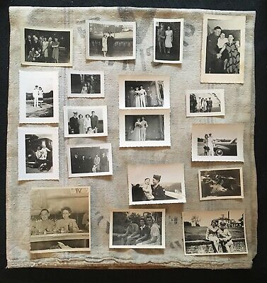 Lot of Vintage WW2 40s Sweetheart & Wedding Photographs Post Card Germany