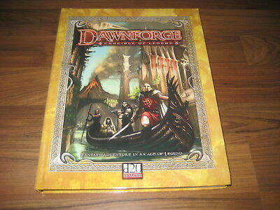 d20 Dawnforge Crucible of Legend DF01 Campaign Setting Hardcover 2003 FFG
