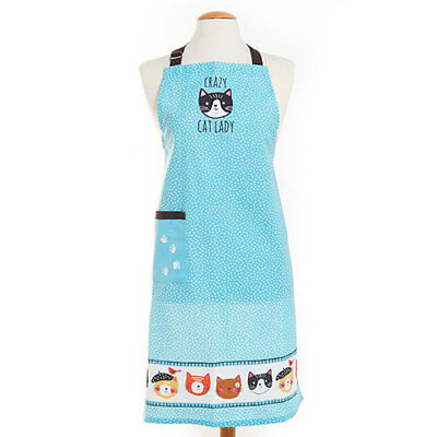 New Crazy Cat Lady Apron Embroidered Bib Pocket Kay Dee Designs Suzanne Nicoll