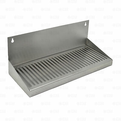 """16"""" Stainless Steel Hanging Drip Tray w/ Removable Grate For Kegerator or Keezer"""