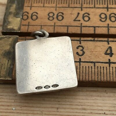 A Vintage Silver Pendant, Hallmarked, Square Shaped