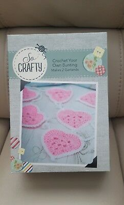 * So Crafty Crochet Bunting Kit*Complete Kit*Create Your Own Craft * Wool/Sew *