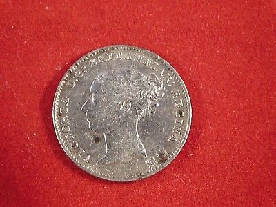 1839 Great Britain Fourpence Coin Victoria