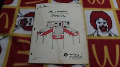 ***ORIGINAL 1979 Williams Solid State SS Flipper Maintenance Manual***