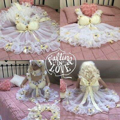 💕 Silky & Sheer Chiffon Frilly  Sissy Maid Adult Baby Doll Dress Negligee