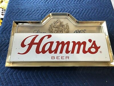 Hamms lighted beer sign bar light.  Rare.  Missing The Lighted Back. Parts