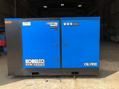 KOBELCO KNW Rotary Screw Air Compressor Two Stage, 200 HP Oil Free KNW1-F/H/S