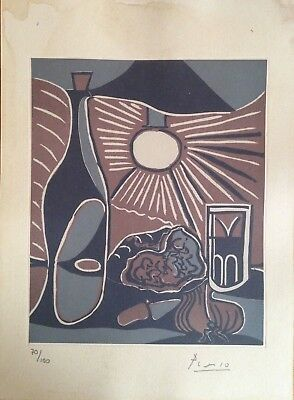 PABLO PICASSO  Superb Etching or Lithograph Hand Signed with Pencil