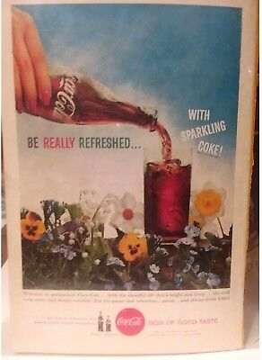 1959 Coca-Cola color print Magazine ad - Be Really Refreshed, MAN CAVE DECOR