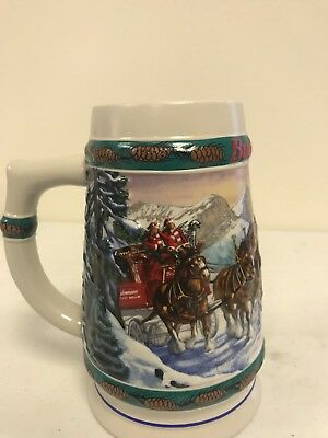 1993 Budweiser Holiday Christmas Beer Stein 1993 Special Delivery