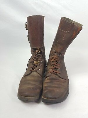 WW2 WWII US U.S. Boots,Army,Leather,Combat,Original,Double Buckle,Military,Shoes