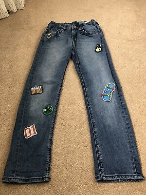 Boys H And M Patch Jeans Age 9-10